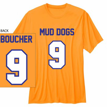 091aa75655a Waterboy Mud Dogs Bobby Boucher #9 football T-shirt [] - $18.95 ...